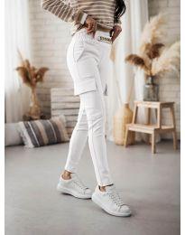 Дамски панталон в бяло - код 5130