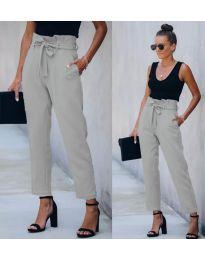Спортно - елегантен панталон в сиво - код 6077