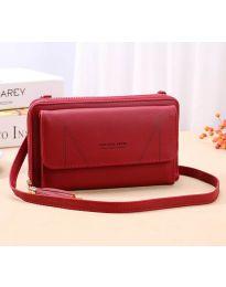 Дамска чанта в цвят бордо  - код B105