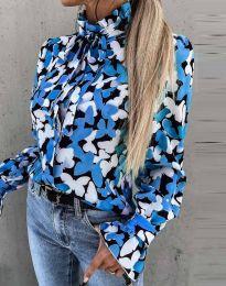Дамска риза с ефектен десен - код 4287 - 3