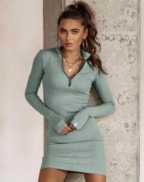 Дамска рокля в цвят мента - код 4288