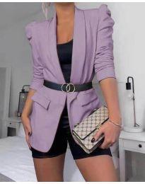 Дамско елегантно сако в лилаво - код 680