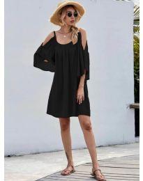 Свободна изчистена рокля в черно - код 3022
