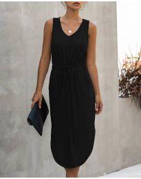 Свободна дамска рокля в черно - код 681