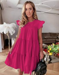 Свободна рокля в цвят циклама - код 2666