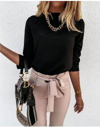Дамска блуза в черно - код 9432