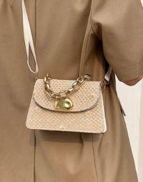 Дамска чанта в цвят капучино - код B458