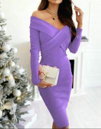 Елегантна рокля в лилаво - код 6130