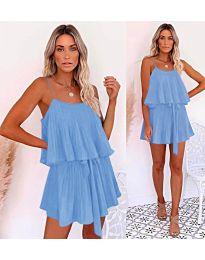 Свободна рокля в светло синьо - код 721