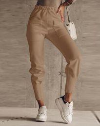 Дамски панталон в кафяво - код 2252