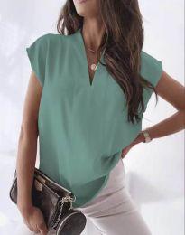 Атрактивна дамска блуза в цвят мента - код 1745