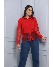 Дамска риза в червено - код 0638