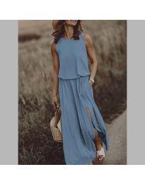 Дълга рокля в светло синьо - код 640
