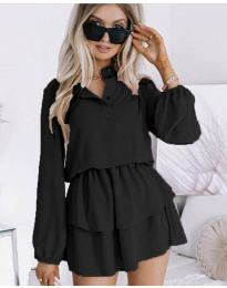 Дамска рокля в черно - код 4093