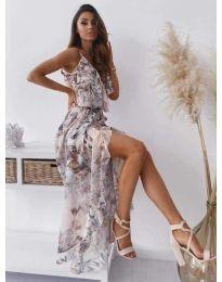 Феерична рокля в бял десен - код 0010