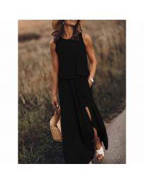Дълга рокля в черно - код 640