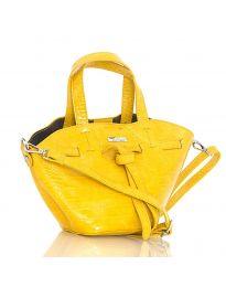 Дамска чанта от две части в жълто - код YF949