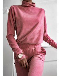 Дамски спортен сет в розово - код 9080