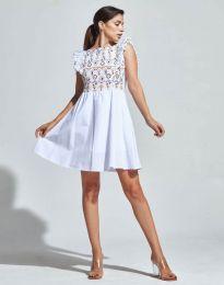 Кокетна рокля в бяло - код 1482