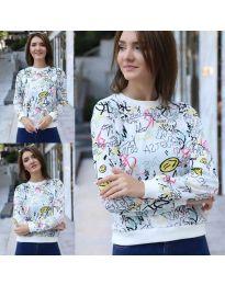 Дамска блуза с анимационен десен - код 1471 - 2