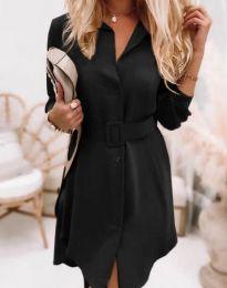 Дамска рокля в черно - код 7490