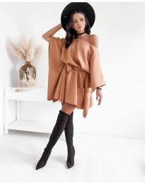 Елегантна дамска рокля в бежово - код 2315