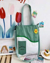 Ежедневна дамска чанта в зелено - код B577