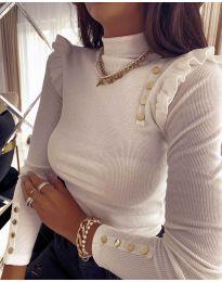 Дамска блуза в бяло - код 11483