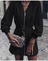 Дамска рокля с цип в черно - код 820