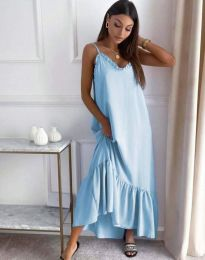 Свободна рокля в светлосиньо - код 4671
