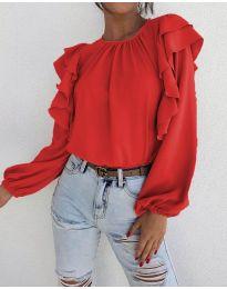 Дамска блуза в червено - код 1603