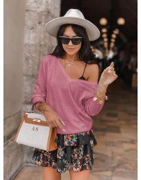 Дамска блуза в розово - код 6013