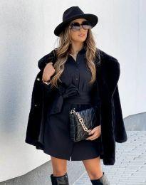 Дамско палто в черно - код 4664
