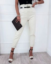 Елегантен дамски панталон в бяло - код 4655