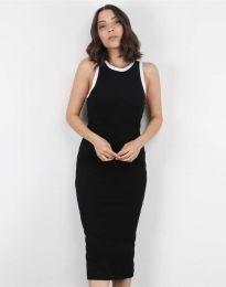 Атрактивна дамска рокля в черно - код 5273