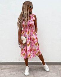 Дамска рокля с флорален десен - код 4535 - 4