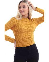 Дамска блуза в цвят горчица - код 145