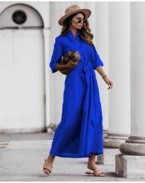 Изчистена рокля в тъмно  синьо - код 0900