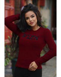 Дамска блуза в цвят бордо - код 3061