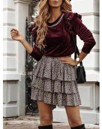Дамска блуза в бордо - код 4948