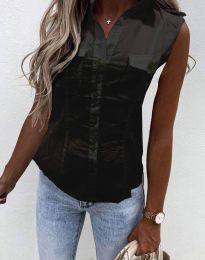 Лятна дамска риза в черно - код 0158