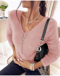Дамска блуза в розово - код 8051
