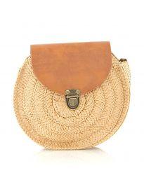 Дамска чанта в цвят капучино от три части - код 90144-13