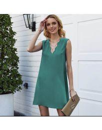 Свободна изчистена рокля в зелено - код 1429
