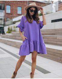 Свободна дамска рокля в лилаво - код 748