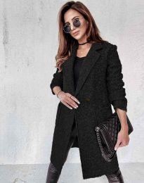 Дамско палто в черно - код 0964