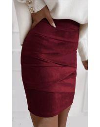 Стилна пола в бордо - код 7451