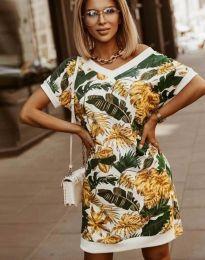 Свободна дамска рокля с атрактивен десен - код 3492 - 4