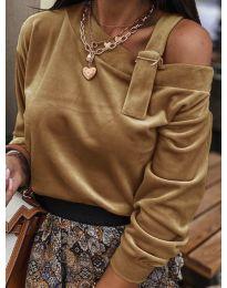 Дамска блуза в кафяво - код 280