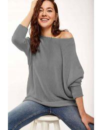 Дамска блуза в сиво - код 831